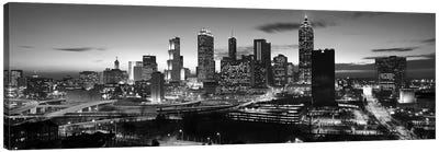 Skyscrapers in a city, Atlanta, Georgia, USA Canvas Art Print