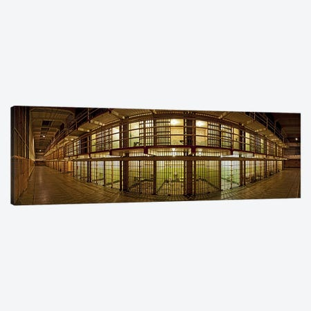 Prison cells, Alcatraz Island, San Francisco, California, USA Canvas Print #PIM9887} by Panoramic Images Canvas Print