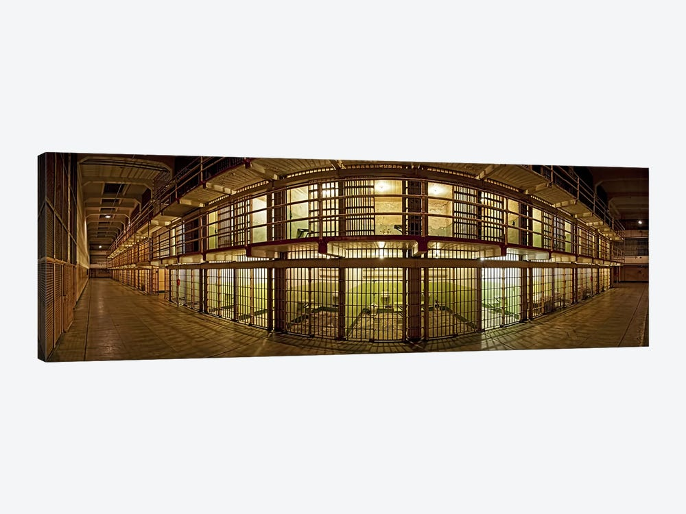 Prison cells, Alcatraz Island, San Francisco, California, USA by Panoramic Images 1-piece Art Print