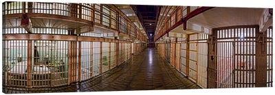 Corridor of a prison, Alcatraz Island, San Francisco, California, USA Canvas Print #PIM9888