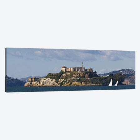 Prison on an island, Alcatraz Island, San Francisco Bay, San Francisco, California, USA Canvas Print #PIM9889} by Panoramic Images Canvas Artwork