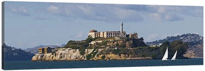 Prison on an island, Alcatraz Island, San Francisco Bay, San Francisco, California, USA Canvas Art Print