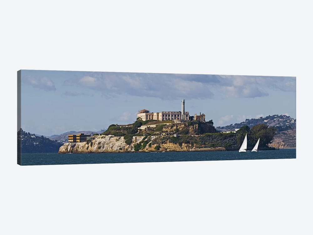 Prison on an island, Alcatraz Island, San Francisco Bay, San Francisco, California, USA by Panoramic Images 1-piece Art Print