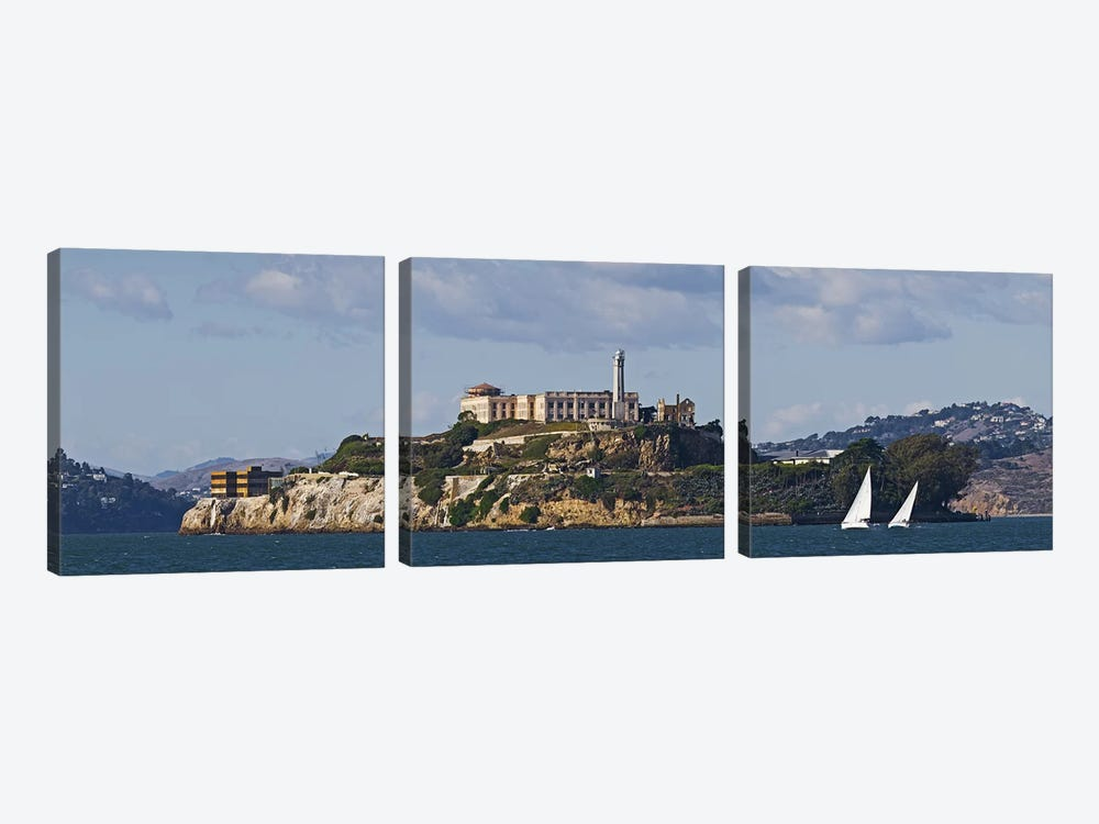Prison on an island, Alcatraz Island, San Francisco Bay, San Francisco, California, USA by Panoramic Images 3-piece Canvas Print