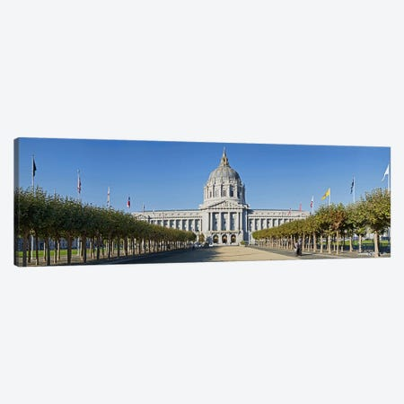 Facade of the Historic City Hall near the Civic Center, San Francisco, California, USA Canvas Print #PIM9891} by Panoramic Images Canvas Print