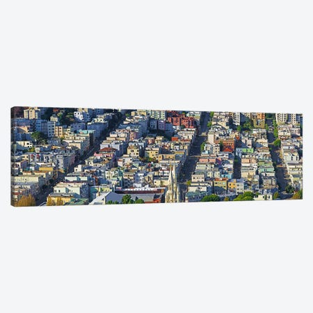Buildings in a city viewed from the Coit tower of Russian Hill, San Francisco, California, USA Canvas Print #PIM9892} by Panoramic Images Canvas Print