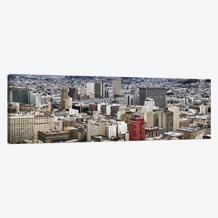 City viewed from the Nob Hill, San Francisco, California, USA Canvas Print #PIM9894} by Panoramic Images Canvas Artwork
