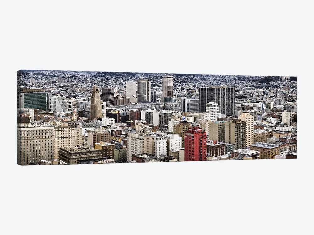 City viewed from the Nob Hill, San Francisco, California, USA by Panoramic Images 1-piece Canvas Print