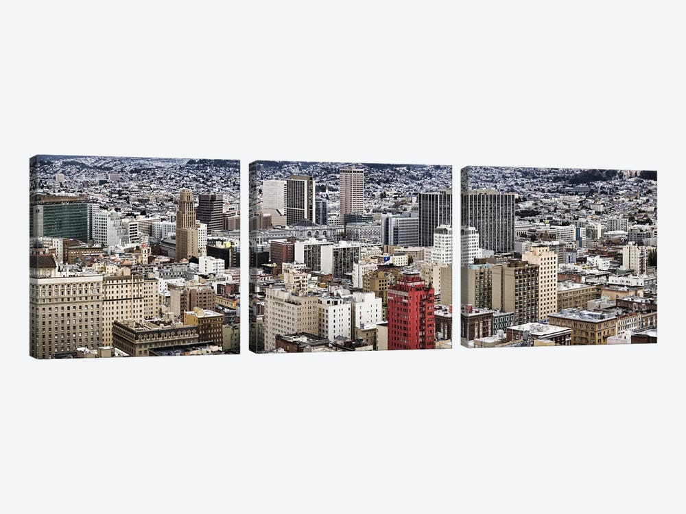 City viewed from the Nob Hill, San Francisco, California, USA by Panoramic Images 3-piece Canvas Print
