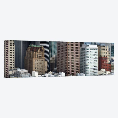 Skyscrapers in the financial district, San Francisco, California, USA Canvas Print #PIM9895} by Panoramic Images Canvas Artwork