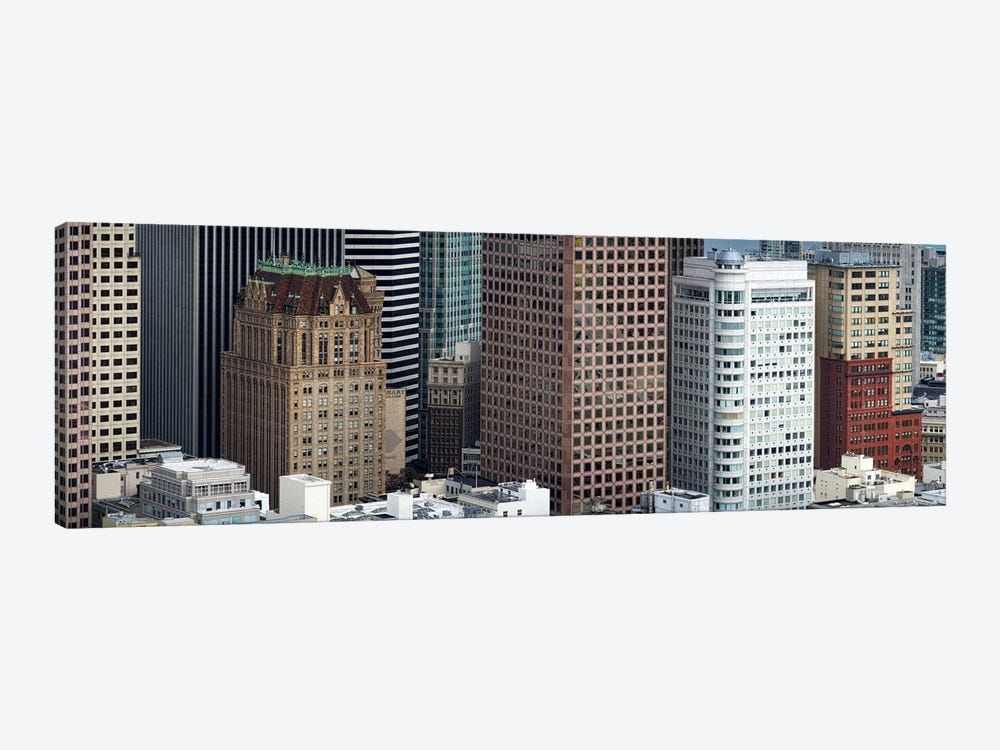 Skyscrapers in the financial district, San Francisco, California, USA by Panoramic Images 1-piece Canvas Art