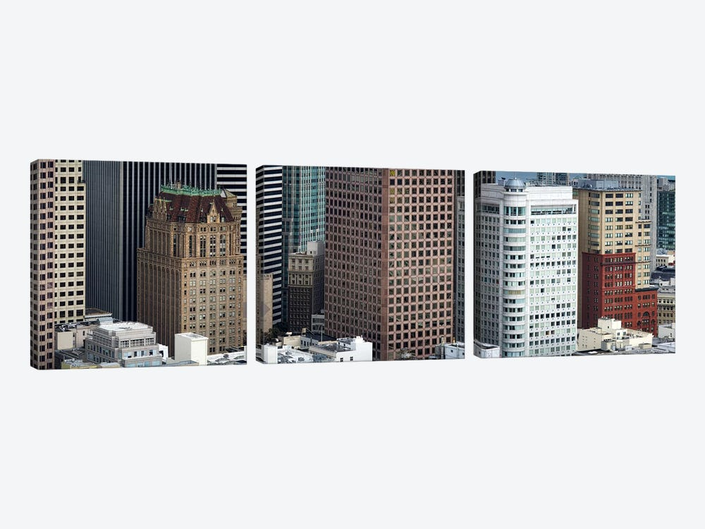 Skyscrapers in the financial district, San Francisco, California, USA by Panoramic Images 3-piece Canvas Wall Art