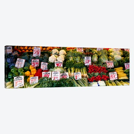 Close-up of Pike Place Market, Seattle, Washington State, USA Canvas Print #PIM989} by Panoramic Images Canvas Art Print