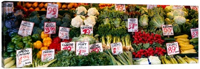 Close-up of Pike Place Market, Seattle, Washington State, USA Canvas Print #PIM989