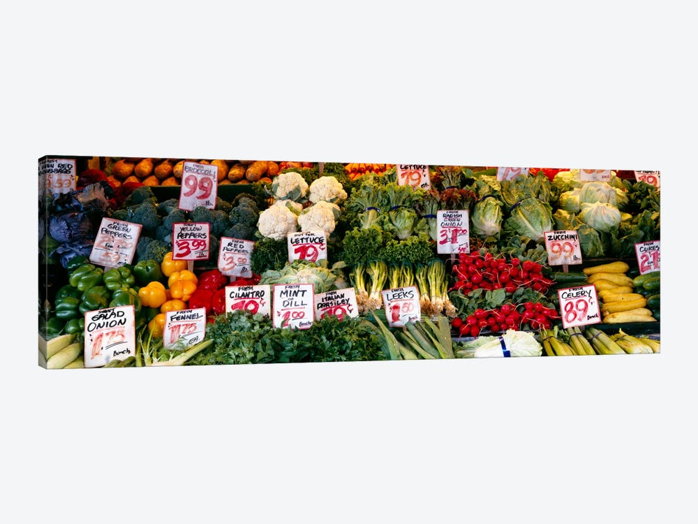 Close-up of Pike Place Market, Seattle, Washington State, USA by Panoramic Images 1-piece Canvas Print