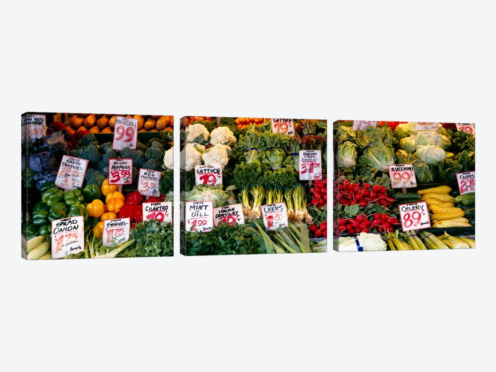 Close-up of Pike Place Market, Seattle, Washington State, USA by Panoramic Images 3-piece Art Print