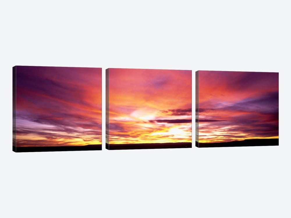 Sunset, Canyon De Chelly, Arizona, USA by Panoramic Images 3-piece Canvas Print