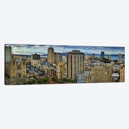 Buildings in a city looking over Pacific Heights from Nob Hill, San Francisco, California, USA 2011 Canvas Print #PIM9900} by Panoramic Images Canvas Art Print