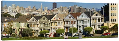 Famous row of Victorian Houses called Painted Ladies, San Francisco, California, USA 2011 Canvas Print #PIM9901