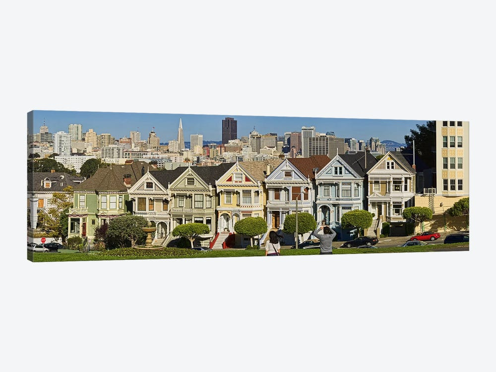 Famous row of Victorian Houses called Painted Ladies, San Francisco, California, USA 2011 by Panoramic Images 1-piece Canvas Artwork