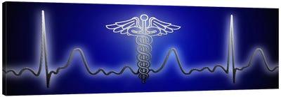 EKG with Caduceus symbol Canvas Art Print