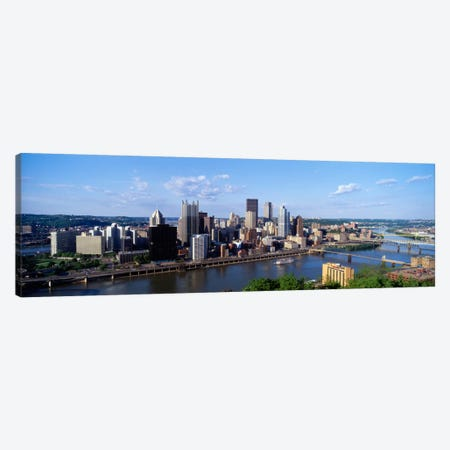 Monongahela RiverPittsburgh, Pennsylvania, USA Canvas Print #PIM992} by Panoramic Images Canvas Art
