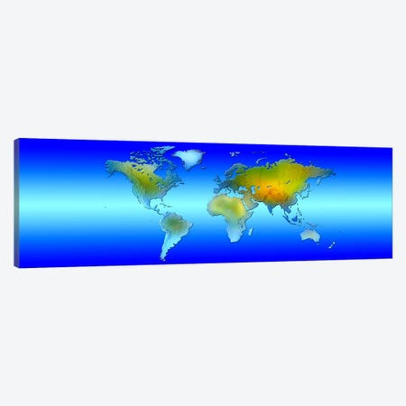 World map Canvas Print #PIM9931} by Panoramic Images Canvas Art