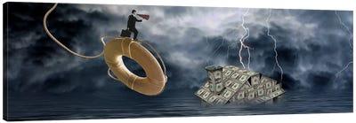 Money house under water Canvas Print #PIM9934