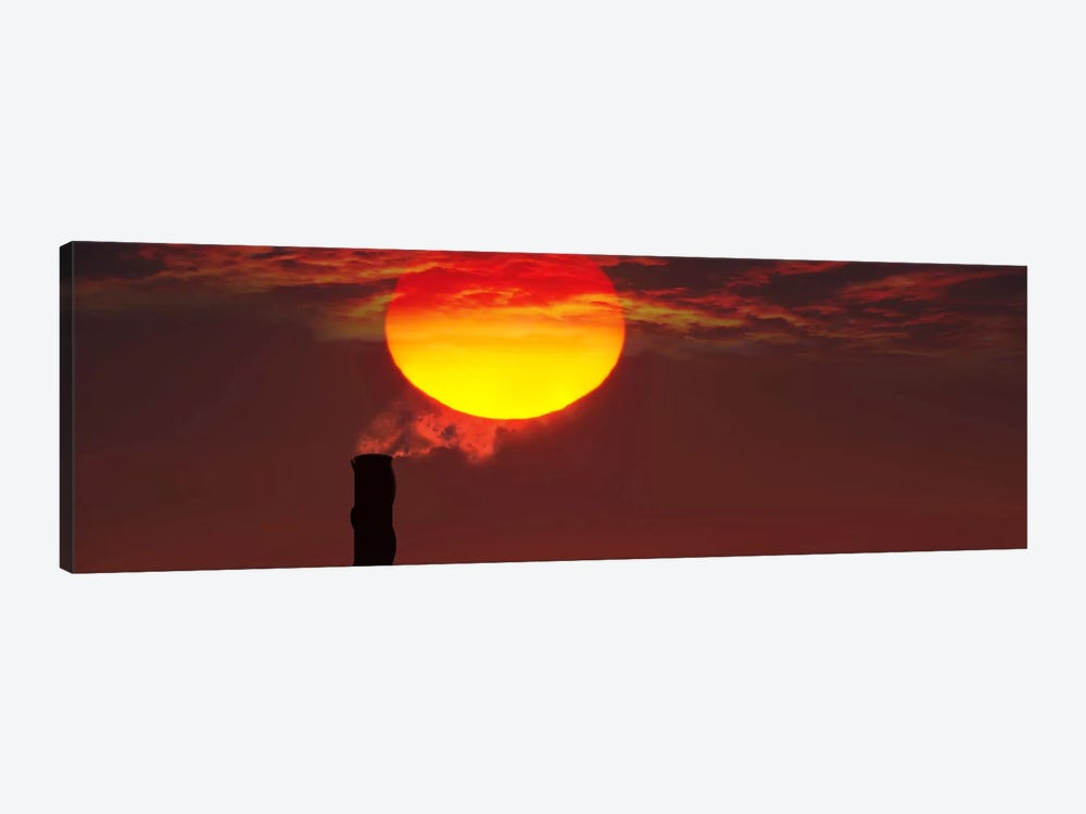 Smoke stack in sunset by Panoramic Images 1-piece Art Print