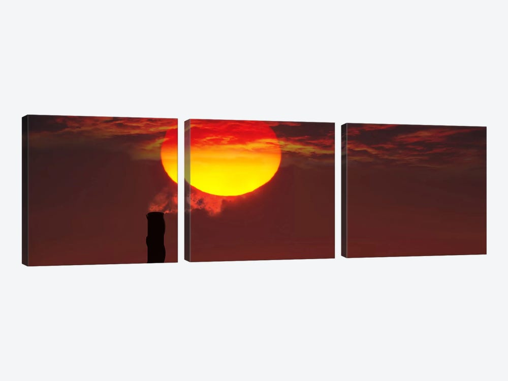 Smoke stack in sunset by Panoramic Images 3-piece Art Print