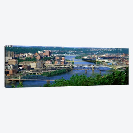 Monongahela River Pittsburgh PA USA Canvas Print #PIM993} by Panoramic Images Canvas Wall Art