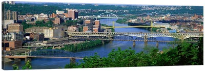 Monongahela River Pittsburgh PA USA Canvas Art Print