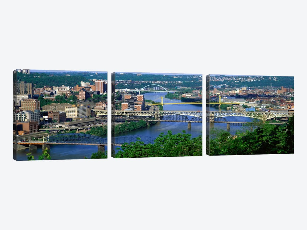 Monongahela River Pittsburgh PA USA by Panoramic Images 3-piece Canvas Artwork