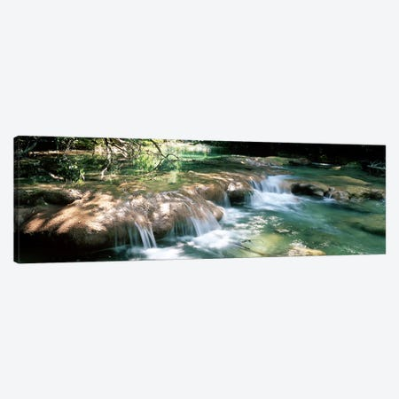 River flowing in summer afternoon light, Siagnole River, Provence-Alpes-Cote d'Azur, France Canvas Print #PIM9949} by Panoramic Images Art Print