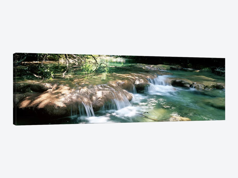 River flowing in summer afternoon light, Siagnole River, Provence-Alpes-Cote d'Azur, France by Panoramic Images 1-piece Canvas Art