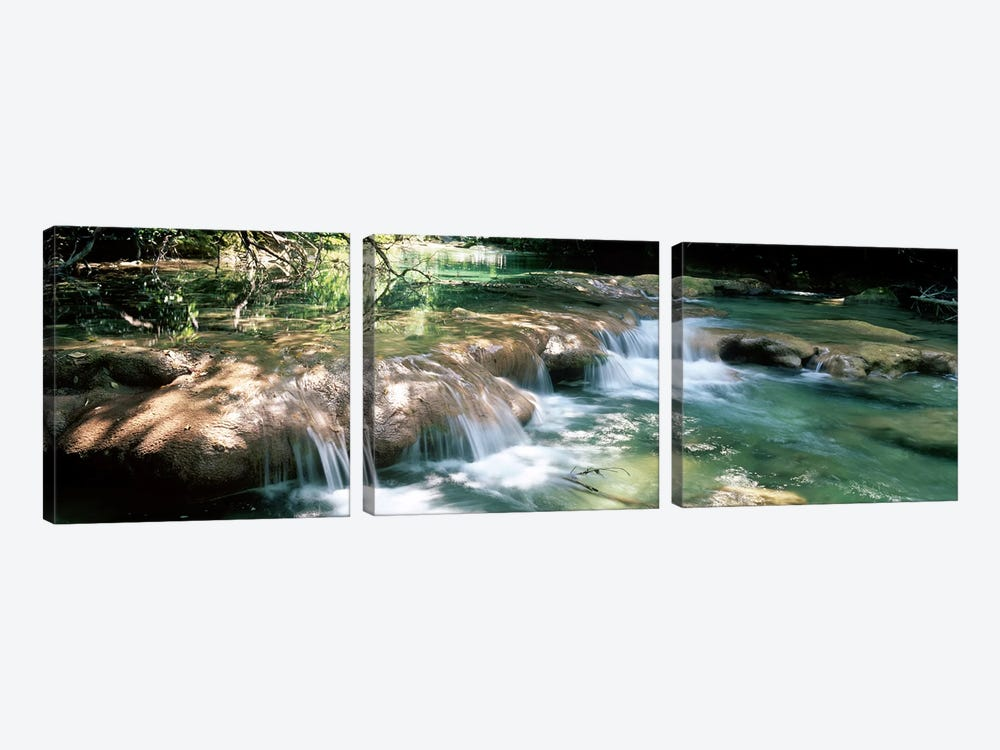 River flowing in summer afternoon light, Siagnole River, Provence-Alpes-Cote d'Azur, France by Panoramic Images 3-piece Canvas Artwork