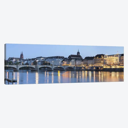 Mittlere Rheinbrucke With Altstadt Grossbasel In The Background, Basel, Switzerland Canvas Print #PIM9965} by Panoramic Images Canvas Artwork