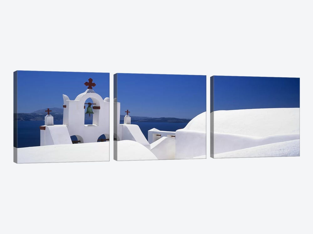 Church, Oia, Santorini, Cyclades Islands, Greece by Panoramic Images 3-piece Canvas Artwork