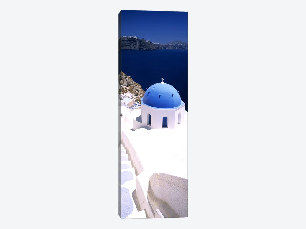 High angle view of a church with blue dome, Oia, Santorini, Cyclades Islands, Greece by Panoramic Images 1-piece Canvas Art Print