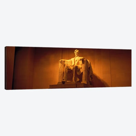 USA, Washington DC, Lincoln Memorial, Low angle view of the statue of Abraham Lincoln Canvas Print #PIM998} by Panoramic Images Canvas Artwork