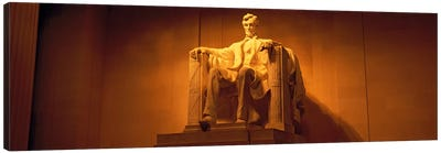 USA, Washington DC, Lincoln Memorial, Low angle view of the statue of Abraham Lincoln Canvas Art Print