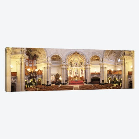Interiors of a cathedral, Berlin Cathedral, Berlin, Germany Canvas Print #PIM9999} by Panoramic Images Canvas Art