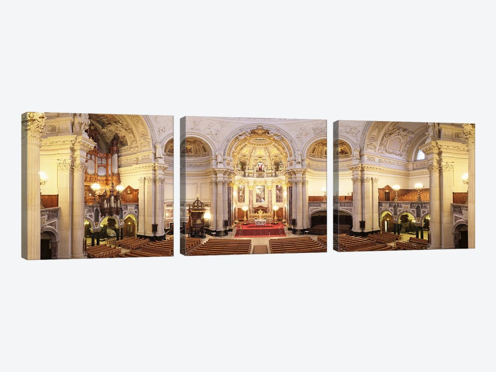 Interiors of a cathedral, Berlin Cathedral, Berlin, Germany by Panoramic Images 3-piece Art Print