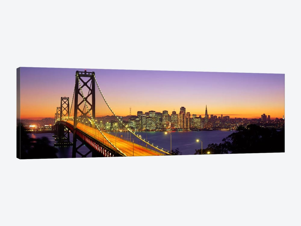 Bay Bridge At Night, San Francisco, California, USA by Panoramic Images 1-piece Art Print
