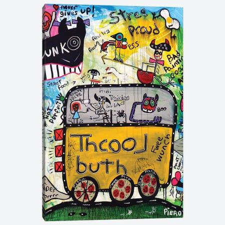 School Bus 3-Piece Canvas #PIR117} by Piero Canvas Artwork