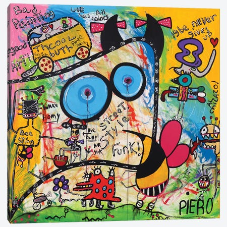 Bee You Canvas Print #PIR12} by Piero Canvas Wall Art