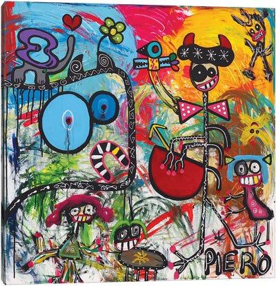 The Street Girls Canvas Art Print