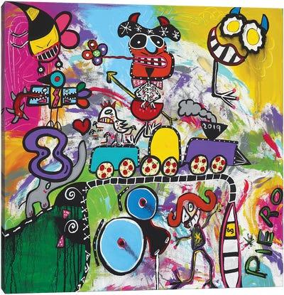 Train Edge Canvas Art Print
