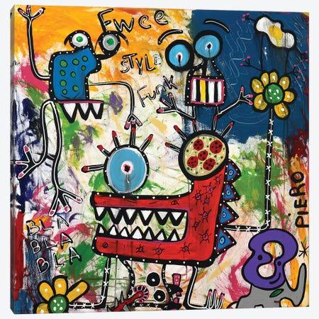 Bla Bla Bla Canvas Print #PIR18} by Piero Canvas Wall Art