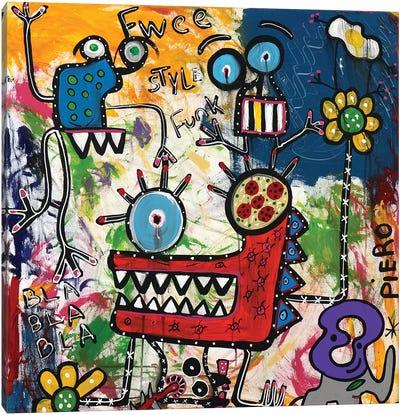Bla Bla Bla Canvas Art Print
